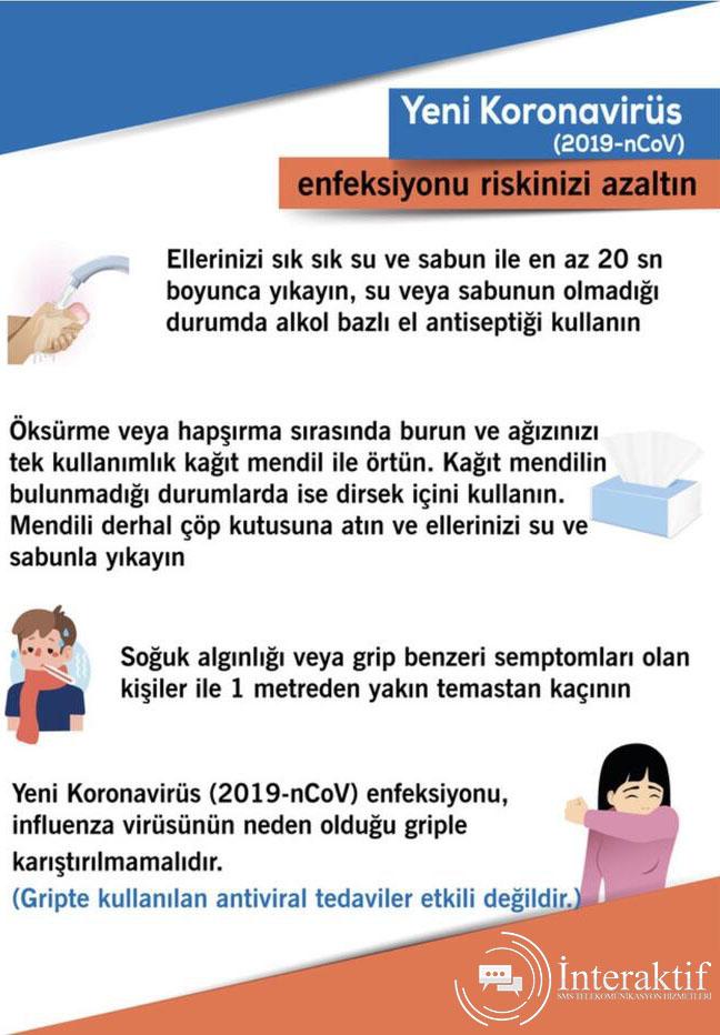 Koronavirüs enfeksiyonu riskinizi azaltın